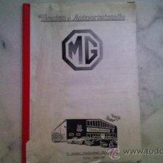 Coches y Motocicletas: CATALOGO DE PIEZAS DE MGB ,MGB GT EN ALEMAN. Lote 33725029