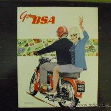 Coches y Motocicletas: B.S.A. CATALOGO EDICION ESPAÑOLA AÑO 1963 - ORIGINAL -. Lote 33788899