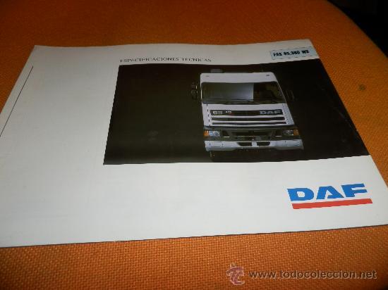 CATALOGO DAF FAS 95.360 WS ESPECIFICACIONES TECNICAS (Coches y Motocicletas Antiguas y Clásicas - Catálogos, Publicidad y Libros de mecánica)