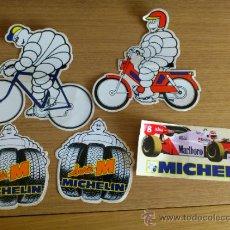 Coches y Motocicletas: LOTE DE PEGATINAS ADHESIVOS DE MICHELIN 5 UNIDADES. Lote 33952587