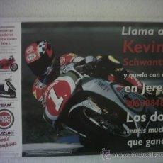 Coches y Motocicletas: CIRCUITO JEREZ POSTER KEVIN SCHWANTZ Nº 1 LUKY. Lote 33992371