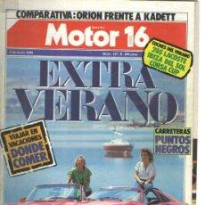 Coches y Motocicletas: MOTOR16 1986: FERRARI 328 GTS; PORSCHE 911 CABRIO; PEUGEOT 205; OPEL CORSA; ETC.... Lote 34030612