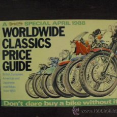 Coches y Motocicletas: WORLDWIDE CLASSISCS - 1988 -. Lote 34061119