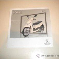 Coches y Motocicletas: FOLLETO PUBLICITARIO SCOOTER PEUGEOT TWEET 50 -125 C.C.. Lote 34101851