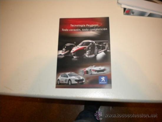 FOLLETO PUBLICITARIO PEUGEOT COMPETICIÓN (Coches y Motocicletas Antiguas y Clásicas - Catálogos, Publicidad y Libros de mecánica)