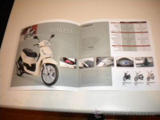 Coches y Motocicletas: Folleto Publicitario Scooter PEUGEOT Tweet 50 -125 c.c. - Foto 2 - 34101851