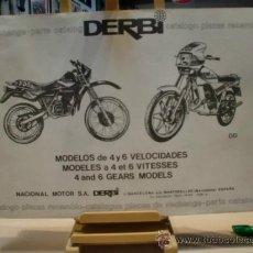 Coches y Motocicletas: DERBI CATALOGO PIEZAS RECAMBIO,ORIGINAL . Lote 34281338
