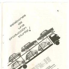 Coches y Motocicletas: PÁGINA PUBLICIDAD ORIGINAL *SEAT - SEAT 1400-SEAT 600*. MODELOS Y PRECIOS. AÑO 1961 -13,2CM X 18,7CM. Lote 34376363