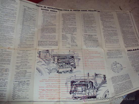 Coches y Motocicletas: Antigua Carta de Instrucciones Motor Diesel Perkins Tractor Fordson Major - Foto 2 - 34926258