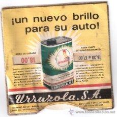 Coches y Motocicletas: CARTULINA PARQUIMETRO URRUZOLA AÑO 1968, VA METIDO EN BOLSA DE PLASTICO CERRADA. Lote 34934380