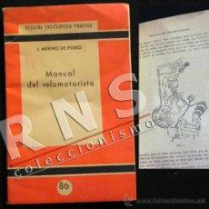 Coches y Motocicletas - MANUAL DEL VELOMOTORISTA - MOTOS MECÁNICA ILUSTRADO MOTO - PEQUEÑA ENCICLOPEDIA PRÁCTICA - LIBRO - 35044576