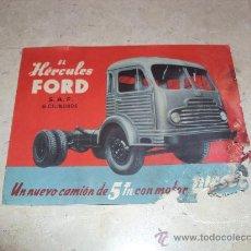 Coches y Motocicletas: CATÁLOGO CAMIÓN HÉRCULES FORD. Lote 35185691