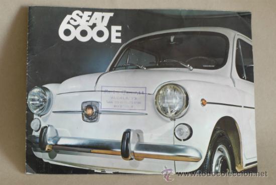 CATÁLOGO SEAT 600. 1970. (Coches y Motocicletas Antiguas y Clásicas - Catálogos, Publicidad y Libros de mecánica)