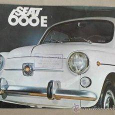 Coches y Motocicletas: CATÁLOGO SEAT 600. 1970.. Lote 35624015