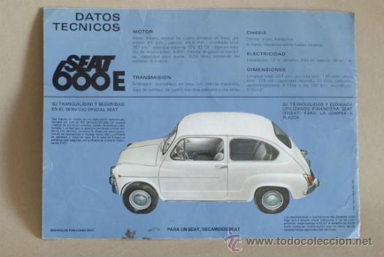 Coches y Motocicletas: Catálogo SEAT 600. 1970. - Foto 2 - 35624015