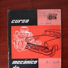 Coches y Motocicletas: CURSO MECÁNICO DE AUTOMÓVILES (Nº 10) EDITA: CEAC.. Lote 35606777