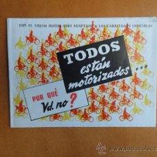 Coches y Motocicletas: CATALOGO ORIGINAL CICLOMOTOR VELOSOLEX ORBEA AÑOS 60. Lote 146152121