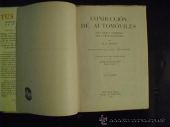 Coches y Motocicletas: CONDUCCION DE AUTOMÓVILES - 1941 - - Foto 3 - 35802426