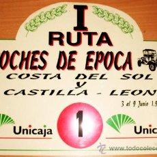 Coches y Motocicletas: PLACA DE MATRICULA DE RALLY DE I RUTA DE COCHES DE EPOCA COSTA DELSOL Y CASTILLA-LEON 1996. Lote 36019252