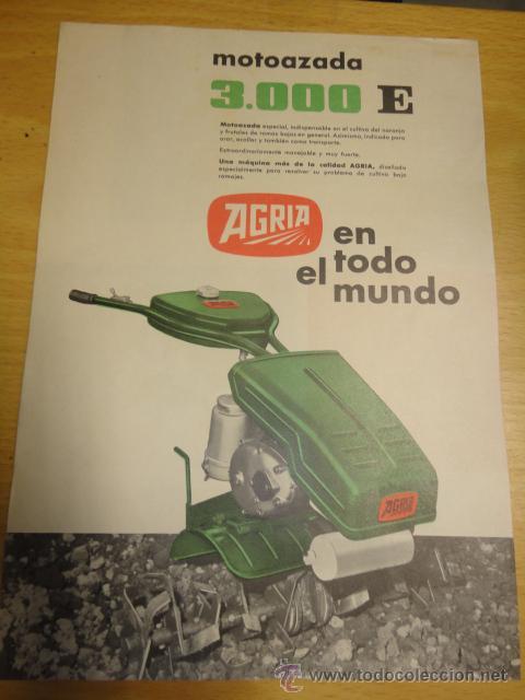 Catalogo Tecnico Motoazada Tractor Agria Modelo Comprar