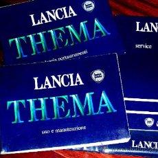 Coches y Motocicletas: LANCIA THEMA. IE.TURBO.1985-87.CATÁLOGO- 3 LIBROS.TÉCNICO-COMERCIAL.ENVÍO PAGO.VER DESCRIPCIÓN.. Lote 36156436