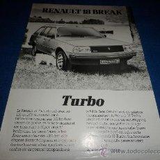 Coches y Motocicletas: CATALOGO FOLLETO RENAULT 18 BREAK TURBO FRANCES. Lote 36171991