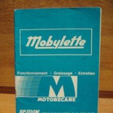 Coches y Motocicletas: MANUAL DE MOBYLETTE - EN FRANCES. Lote 36227387