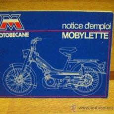 Coches y Motocicletas: MANUAL DE MOBYLETTE - EN FRANCES. Lote 36227410