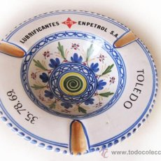 Coches y Motocicletas: CENICERO DE TALAVERA - LUBRIFICANTES CS - ENPETROL S.A. - EMPRESA NACIONAL DEL PETROLEO - TOLEDO. Lote 36242470