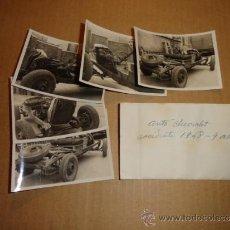 Coches y Motocicletas: LOTE DE 5 FOTOS DE COCHE AUTO CHEVROLET (ACCIDENTADO 1948, FOTO AMPLIACIÓN MASANA, MANRESA). Lote 36277086