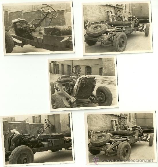 Coches y Motocicletas: LOTE DE 5 FOTOS DE COCHE AUTO CHEVROLET (ACCIDENTADO 1948, FOTO AMPLIACIÓN MASANA, MANRESA) - Foto 3 - 36277086