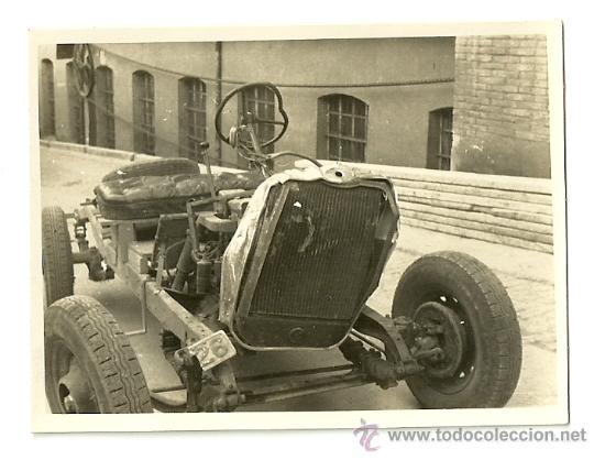 Coches y Motocicletas: LOTE DE 5 FOTOS DE COCHE AUTO CHEVROLET (ACCIDENTADO 1948, FOTO AMPLIACIÓN MASANA, MANRESA) - Foto 8 - 36277086