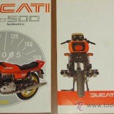 Coches y Motocicletas: DUCATI DESMO 500 FOLLETO PUBLICITARIO DESPLEGABLE ORIGINAL. Lote 36279767