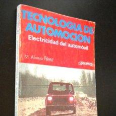 Coches y Motocicletas: TECNOLOGÍA DE AUTOMOCIÓN. MECÁNICA DEL AUTOMÓVIL./ J ALONSO. Lote 36289144