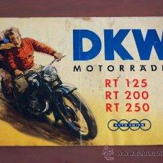 Coches y Motocicletas: DKW MOTORRADER RT 125, RT 200, RT 250 FOLLETO PUBLICITARIO EN ALEMAN.. Lote 36303597