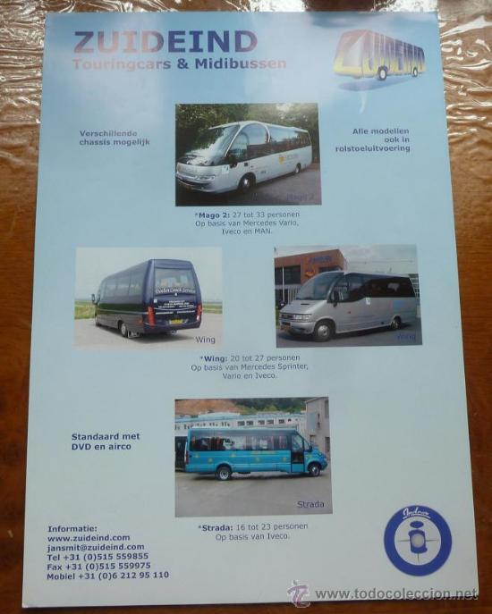 Coches y Motocicletas: Catalogo autobuses Zuideind Holanda Noge autobus autocar autocares irizar setra - Foto 2 - 36319258