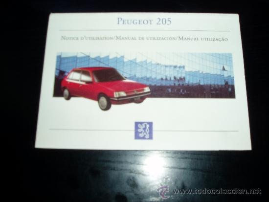 peugeot 205 manual del conductor manual del p comprar cat logos rh todocoleccion net Peugeot 207 manual de peugeot 205 en español gratis