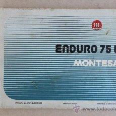 Coches y Motocicletas: MANUAL DE INSTRUCCCIONES ENDURO 75 L MONTESA ( ORIGINAL ). Lote 36557199