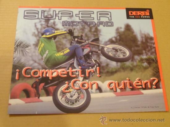 FOLLETO (BROCHURE) MOTO SUPER MOTARD DERBI (Coches y Motocicletas Antiguas y Clásicas - Catálogos, Publicidad y Libros de mecánica)