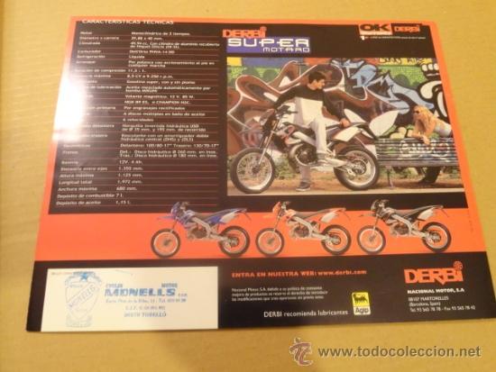 Coches y Motocicletas: FOLLETO (BROCHURE) MOTO SUPER MOTARD DERBI - Foto 6 - 36598762