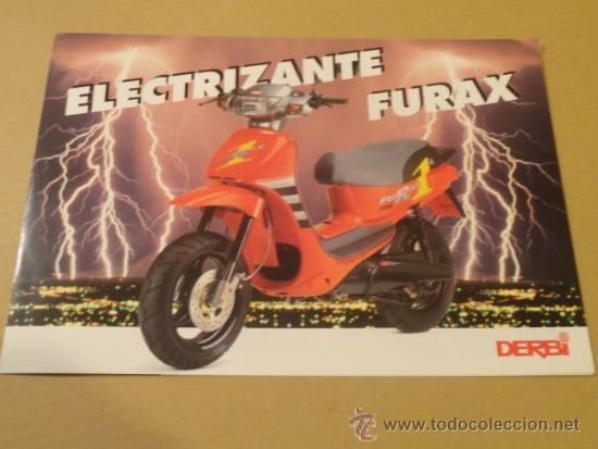 FOLLETO (BROCHURE) MOTO DERBI FURAX (Coches y Motocicletas Antiguas y Clásicas - Catálogos, Publicidad y Libros de mecánica)