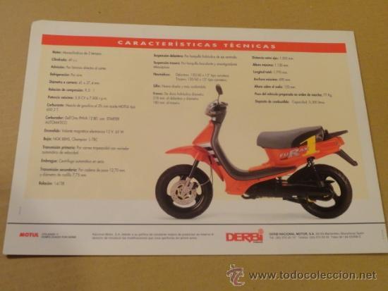 Coches y Motocicletas: FOLLETO (BROCHURE) MOTO DERBI FURAX - Foto 3 - 36599131