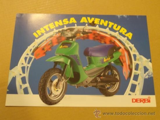 FOLLETO (BROCHURE) MOTO DERBI AVENTURA (Coches y Motocicletas Antiguas y Clásicas - Catálogos, Publicidad y Libros de mecánica)