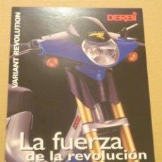Coches y Motocicletas: FOLLETO (BROCHURE) MOTO DERBI VARIANT REVOLUTION. Lote 36599316