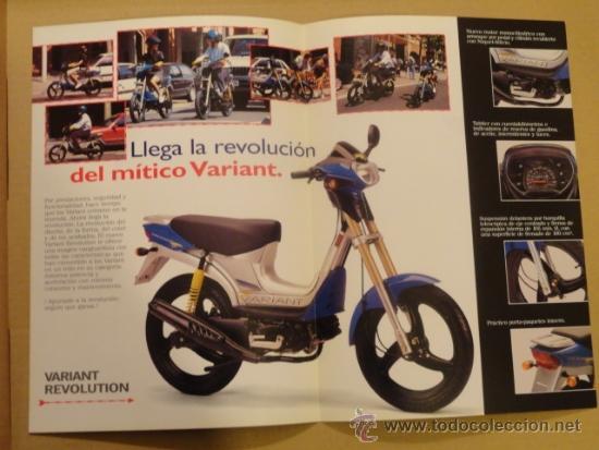 Coches y Motocicletas: FOLLETO (BROCHURE) MOTO DERBI VARIANT REVOLUTION - Foto 2 - 36599316