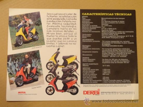 Coches y Motocicletas: FOLLETO (BROCHURE) MOTO DERBI HUNTER - Foto 4 - 36599445