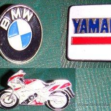 Coches y Motocicletas: PINS PLATEADOS MARCA BMW -YAMAHA-HONDA EN . Lote 36609305