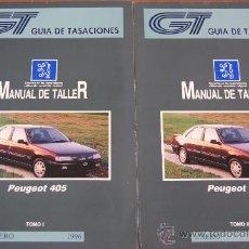 Coches y Motocicletas: PEUGEOT 405 MANUAL DE TALLER (2 TOMOS). Lote 36799528