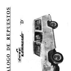 Coches y Motocicletas: MANUAL DE DESPIECE OFICIAL DEL JEEP COMANDO D. Lote 195134710