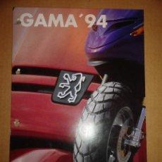 Coches y Motocicletas: FOLLETO CATALOGO (BROCHURE) MOTO PEUGEOT GAMA 1994. Lote 37338699